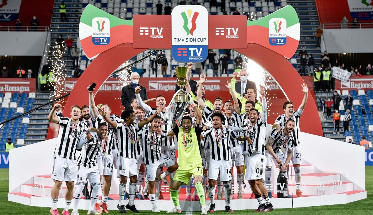 Esultanza Coppa Italia 19 maggio 2021 - 00
