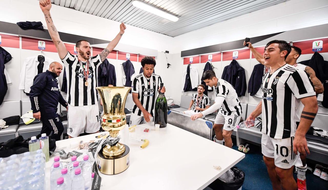 Esultanza Coppa Italia 19 maggio 2021 - 21