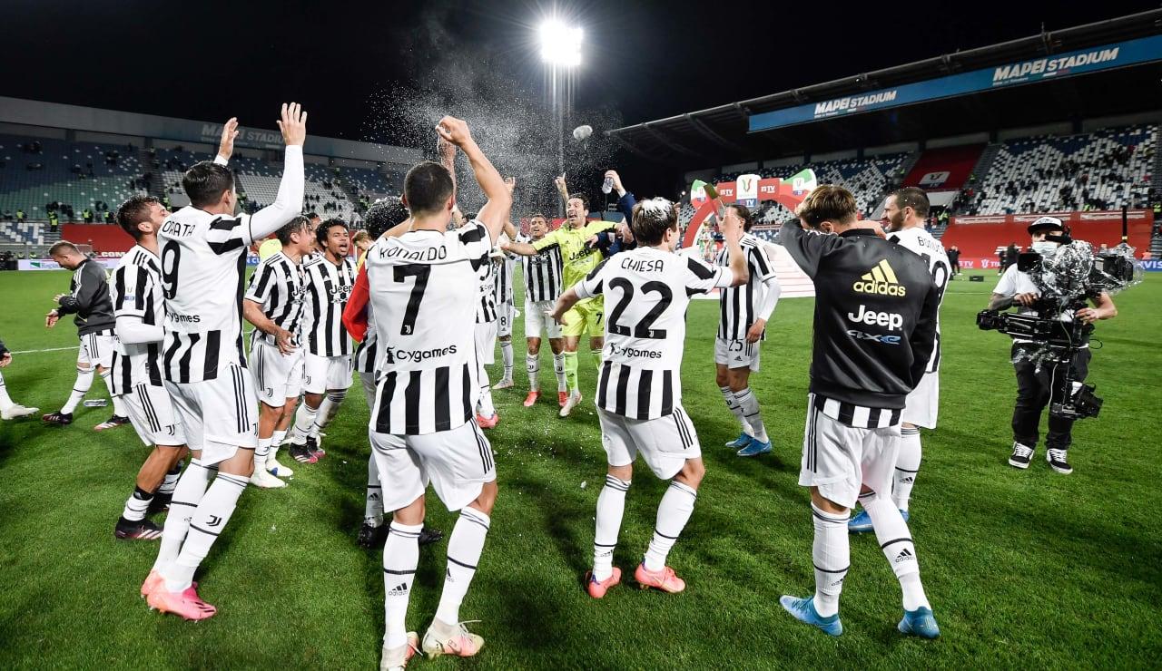 Esultanza Coppa Italia 19 maggio 2021 - 10