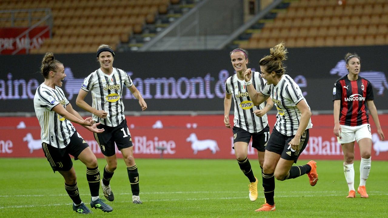 Girelli esultanza Milan Juventus Women