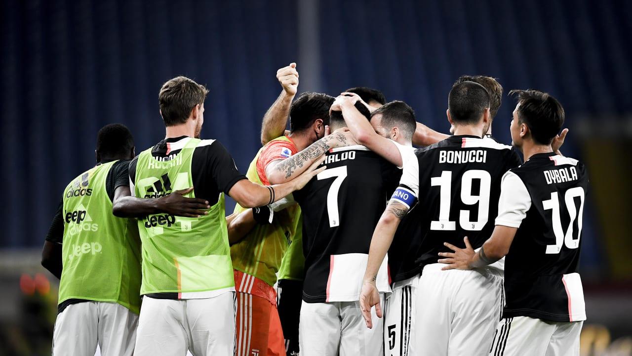 Esultanza Genoa Juventus 30 giugno 2020