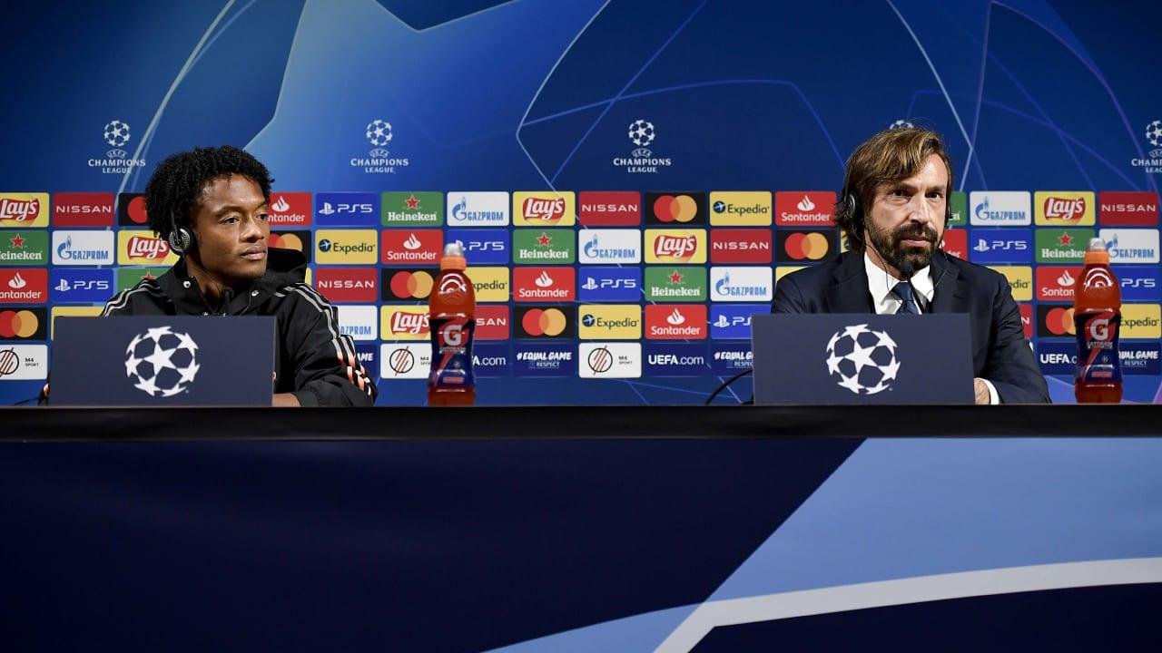 Press Conference Pirlo e Cuadrado Ferencvaros
