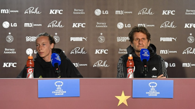 Press Conference | The eve of Servette - Juventus Women
