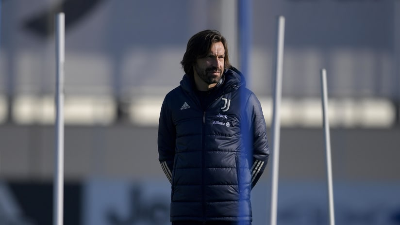 Coach Pirlo presents Benevento-Juventus