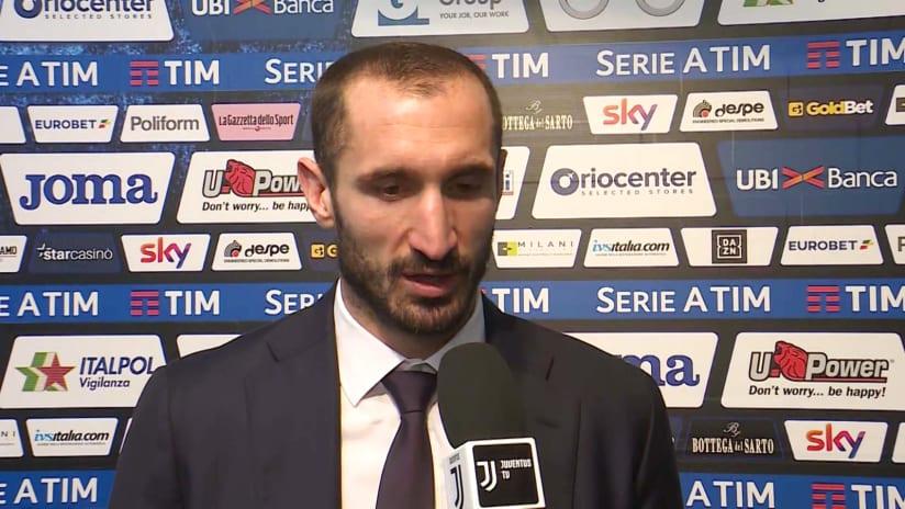 Atalanta - Juventus | Chiellini: «Siamo stati lucidi nel momento difficile del match»