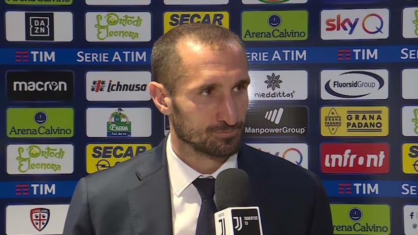 Cagliari - Juventus | Chiellini: «Bravi ad interpretare la partita»