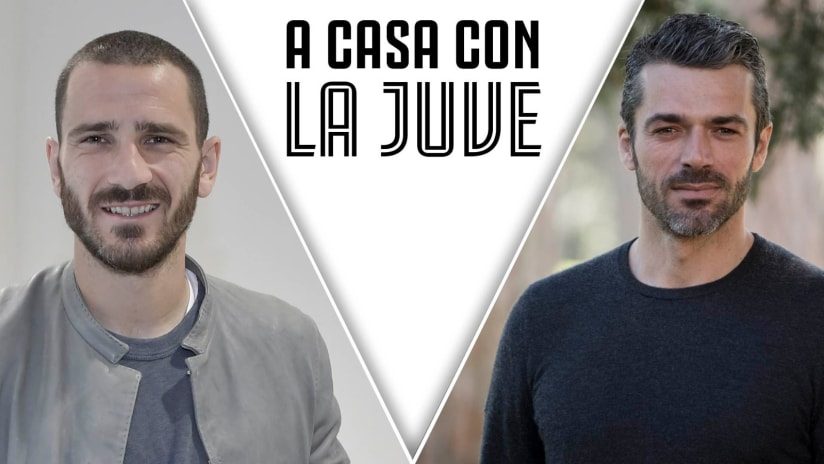 At home with Juve | Bonucci and Argentero