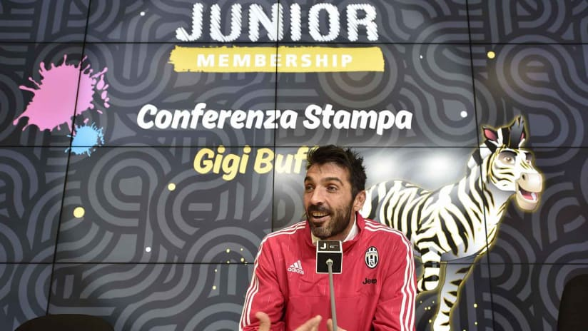 Gigi Buffon incontra i Junior Reporter