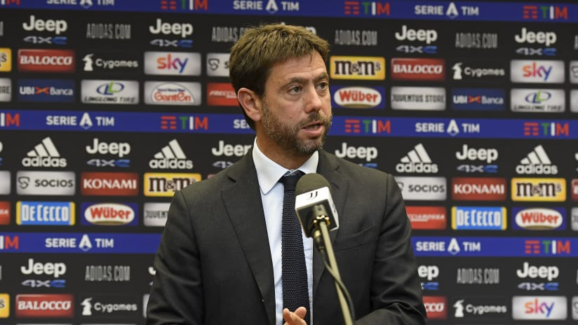 "Andrea Agnelli: ""The situation in the event of a positive result is linear"""