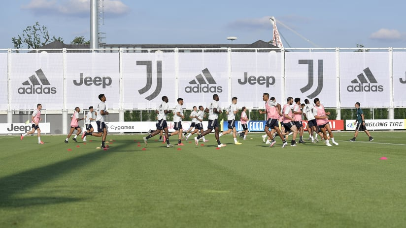 Training | Racing towards Juventus - Lazio