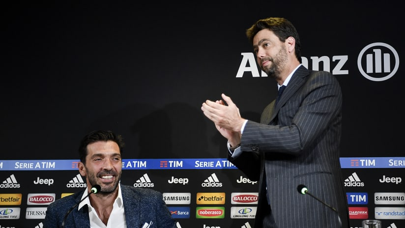 La conferenza stampa di Gianluigi Buffon