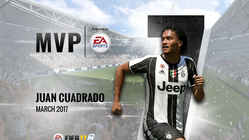"Juan Cuadrado, March ""MVP of the Month"""
