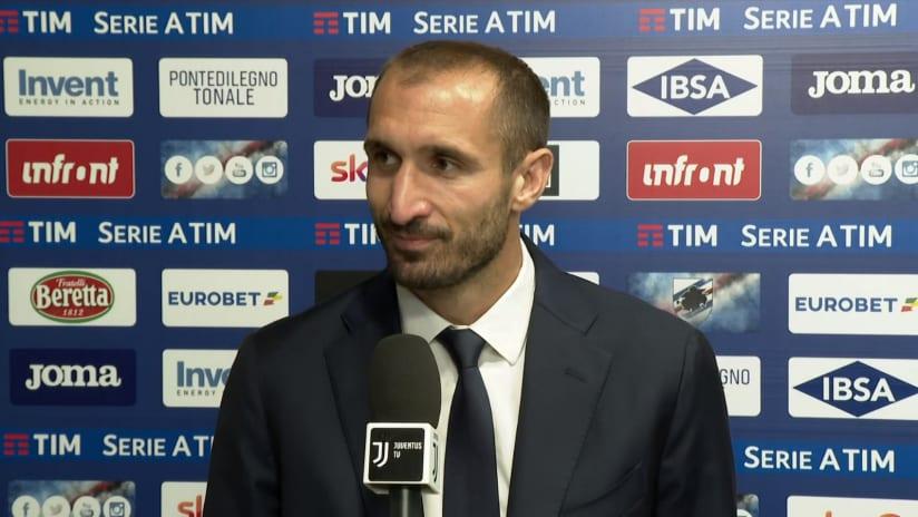 Sampdoria - Juventus | Chiellini: «Si chiude una grandissima stagione»