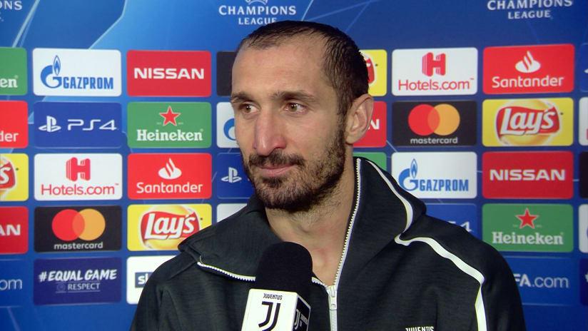 Juventus - Valencia | Chiellini: «Il primo obiettivo della stagione è stato raggiunto»