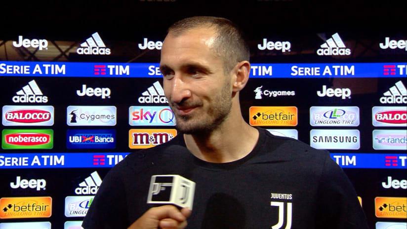 Juventus - Fiorentina | Chiellini: «Festeggiamo un grande scudetto»