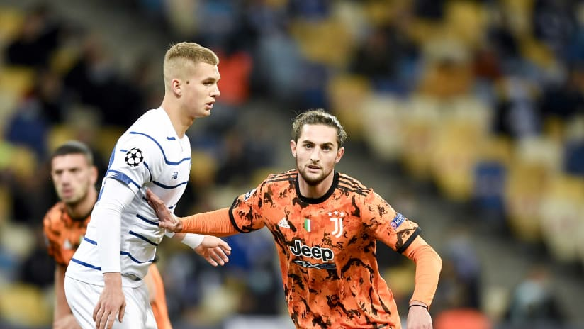 Dinamo Kiev - Juventus | Rabiot: «Squadra equilibrata e intensa»