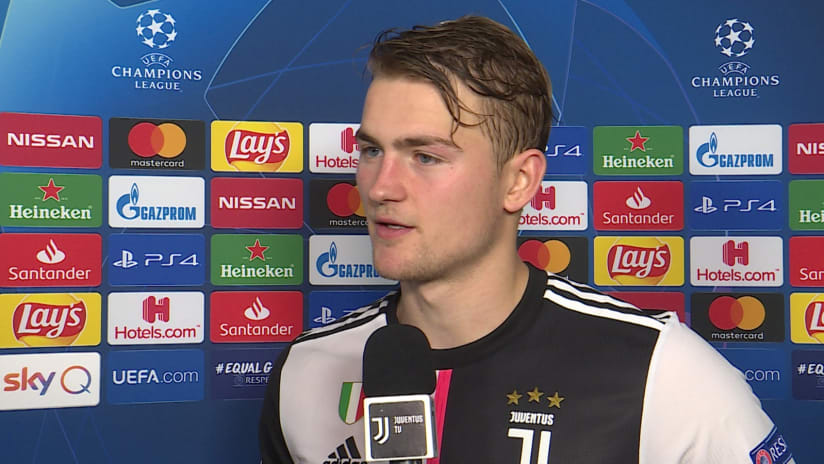Juventus - Atletico Madrid | De Ligt: «We won, we are first in the Group»