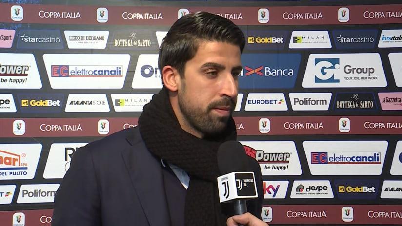 Atalanta - Juventus | Khedira: «L'Atalanta ha meritato»