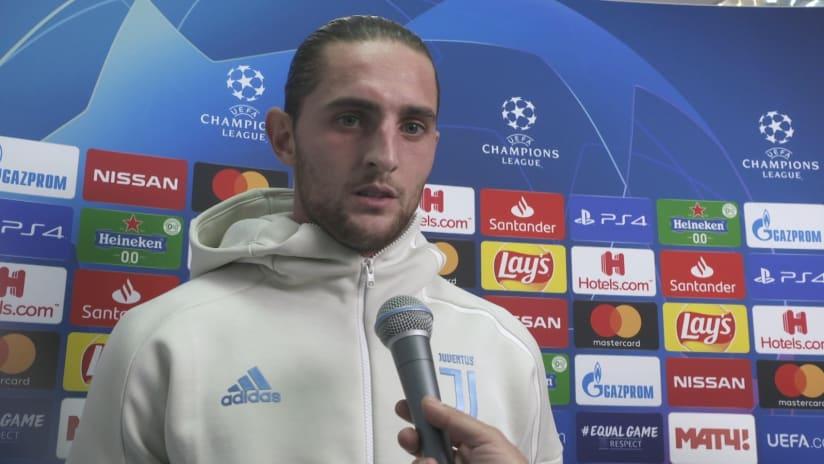 Lokomotiv Mosca - Juventus | Rabiot: «Abbiamo meritato la vittoria»