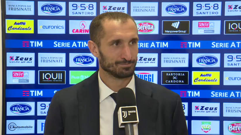 Frosinone - Juventus | Chiellini: «Abbiamo giocato con il giusto atteggiamento»