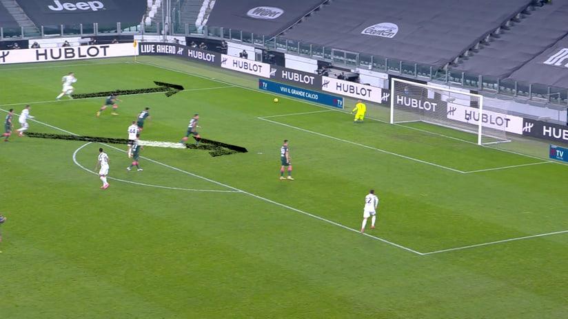 Il secondo gol di CR7