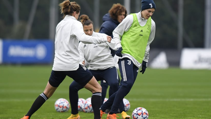 Women | Training on the eve of Juventus - Lyon