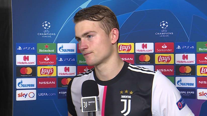 Juventus - Lokomotiv Mosca | De Ligt: «Quello che conta è la vittoria»