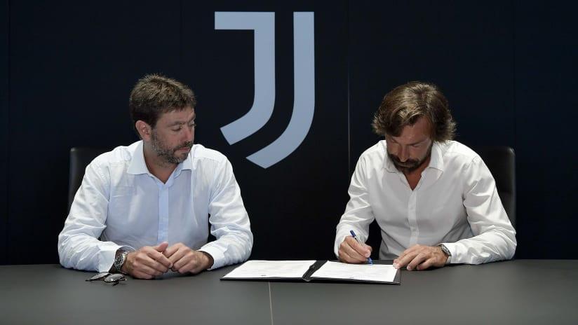 Firma Pirlo Agnelli 31 luglio 2020