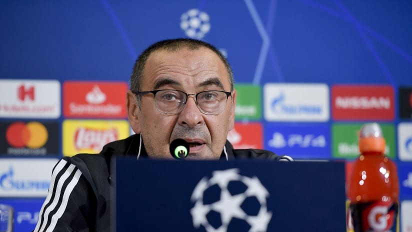 Press conference   The eve of Juventus - Bayer Leverkusen