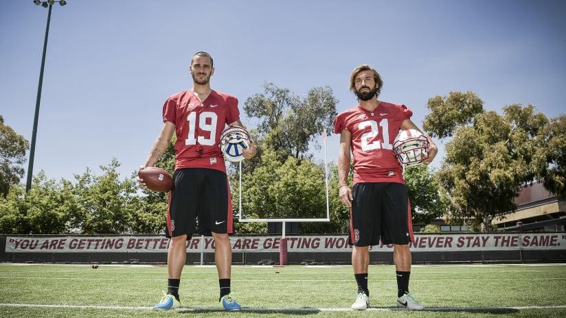 Jeep US Tour 2013: Bonucci, Pirlo and an (American) Football