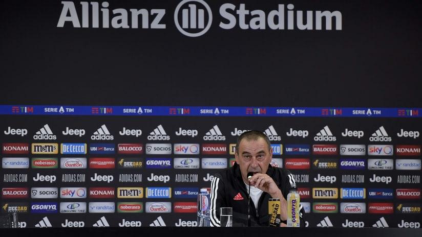 Le parole di Sarri alla vigilia di Juventus - Torino