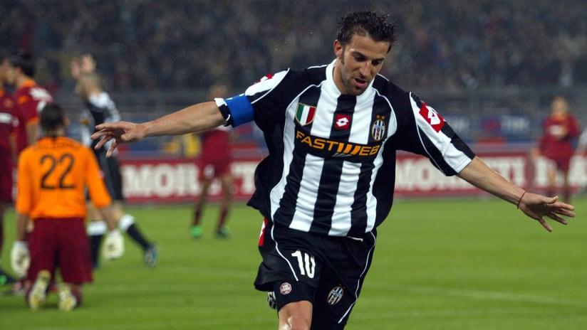 Protagonisti | Juventus - Roma, i gol in 3 stadi di Del Piero