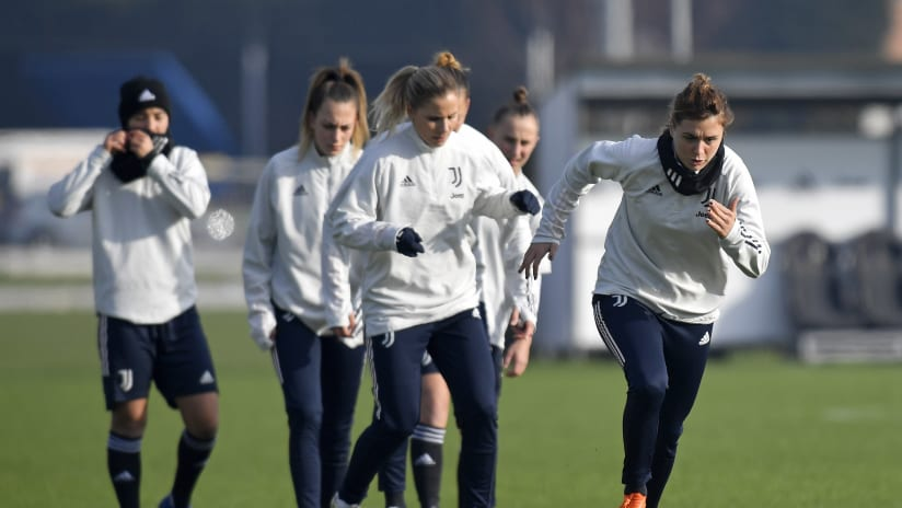 Women | Training on the eve of Lyon - Juventus