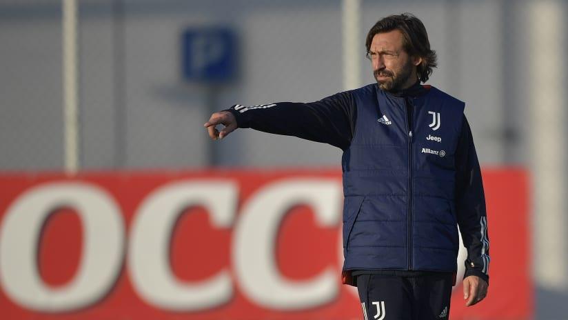 Coach Pirlo previews Juventus - Cagliari
