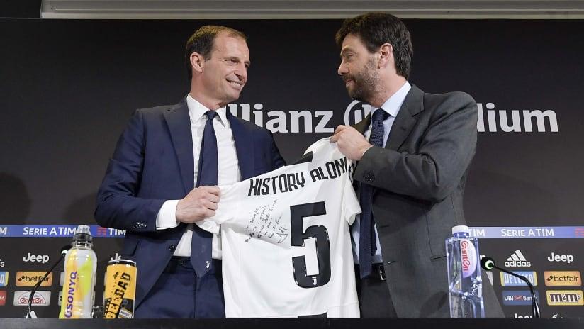 Andrea Agnelli and Massimiliano Allegri press conference