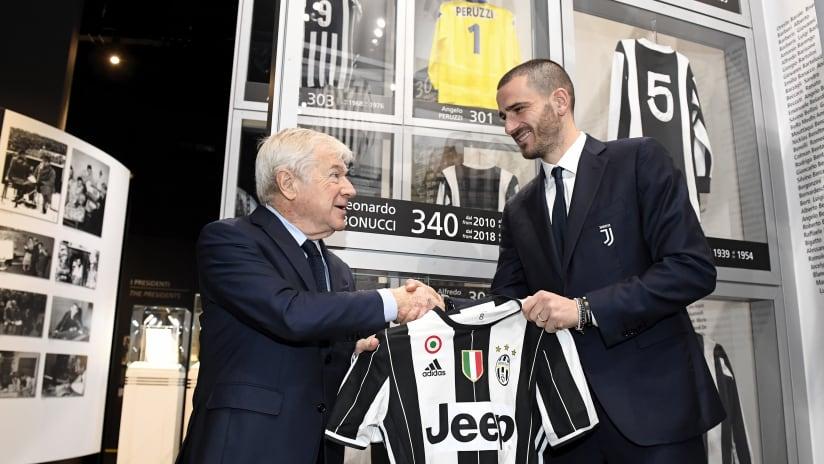 Bonucci jersey on display at Juventus Museum