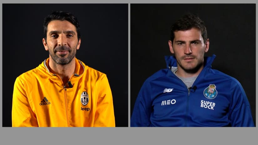 Buffon and Casillas: Legends side by side