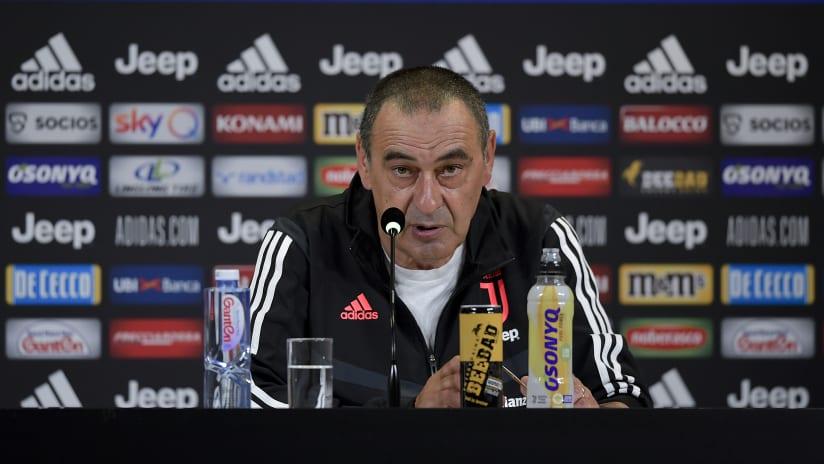Le parole di Sarri alla vigilia di Genoa - Juventus
