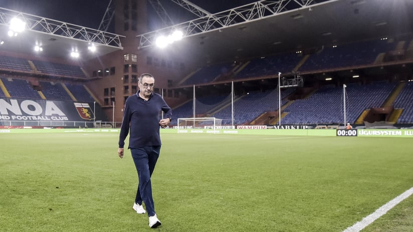 Genoa - Juventus | Sarri: «Abbiamo segnato 3 gol bellissimi»