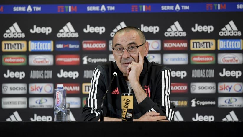 Le parole di Sarri alla vigilia di Juventus - Roma