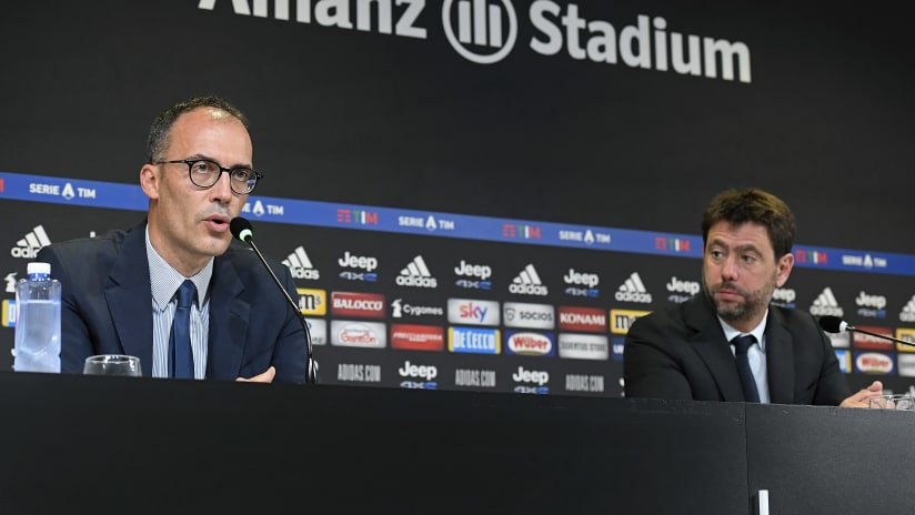 Andrea Agnelli and Luca Stefanini's press conference