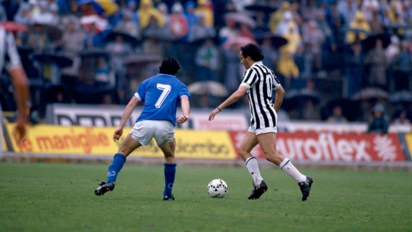 History | Juventus - Brescia, Platini's farewell