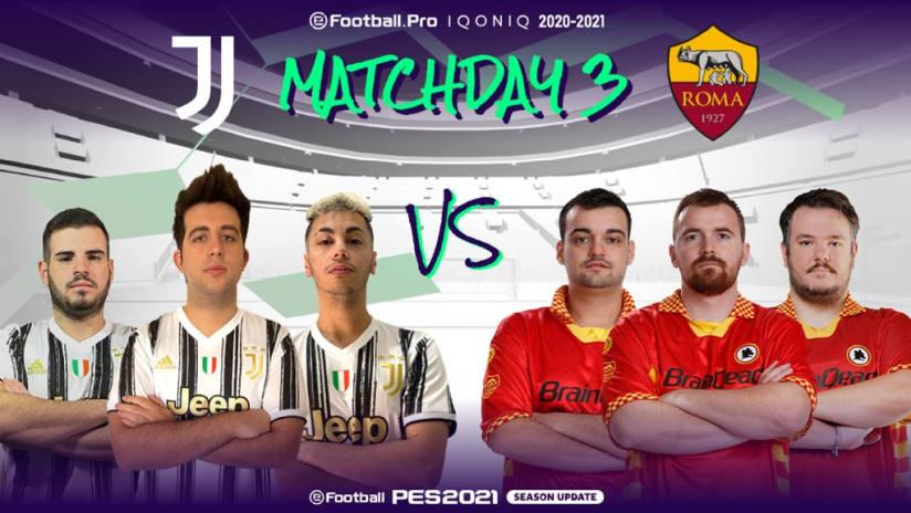 eSports | Matchweek 3 | Juventus - Roma