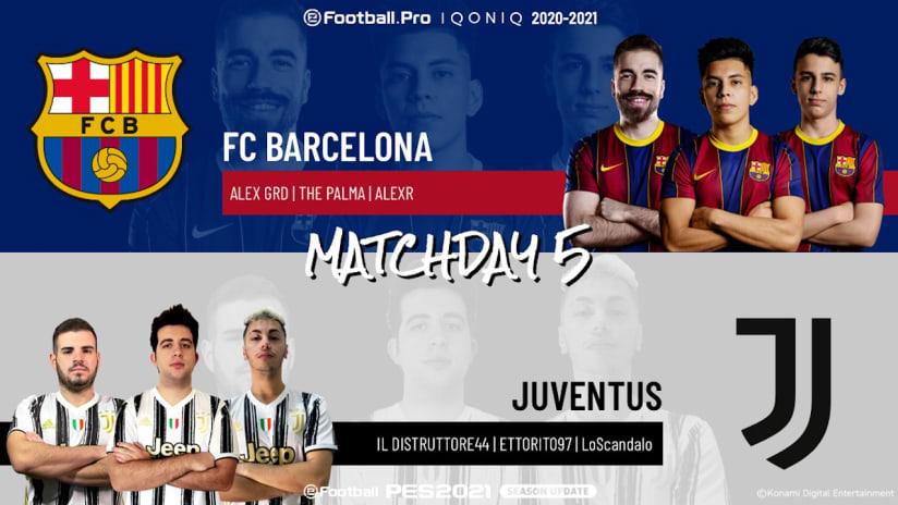 eSports | Matchweek 5 | Barcelona - Juventus