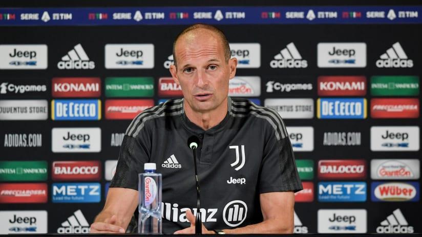 Coach Allegri previews Juventus - Empoli