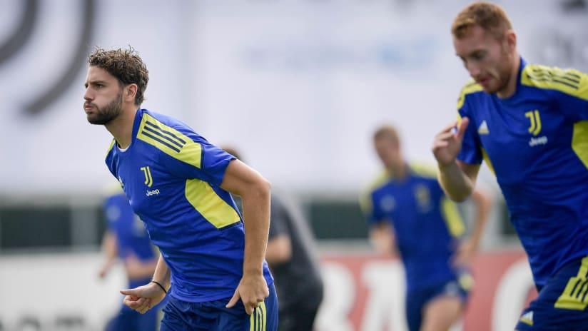 L'allenamento della vigilia di Malmö - Juventus