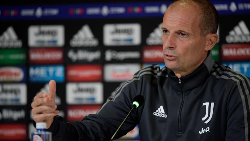 Coach Allegri previews Juventus - Roma