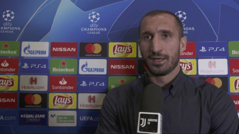 Valencia - Juventus | Chiellini: «Domani sarà una partita difficile»
