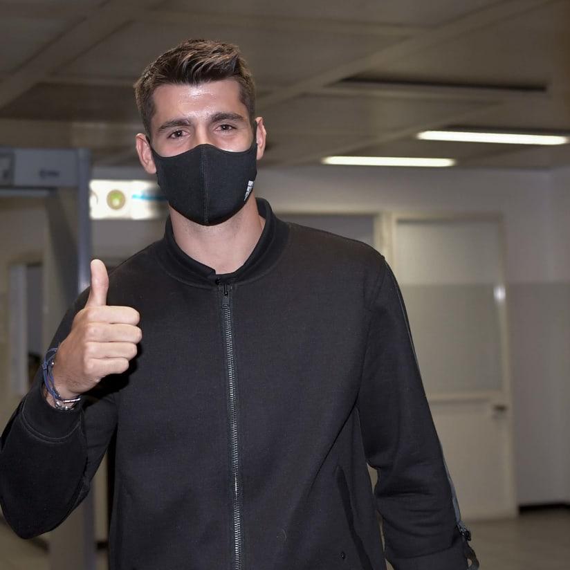 Alvaro Morata è atterrato a Torino!