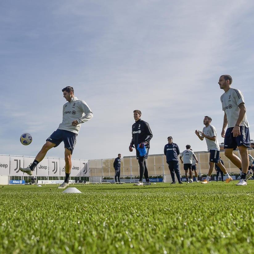 Bianconeri training in pictures